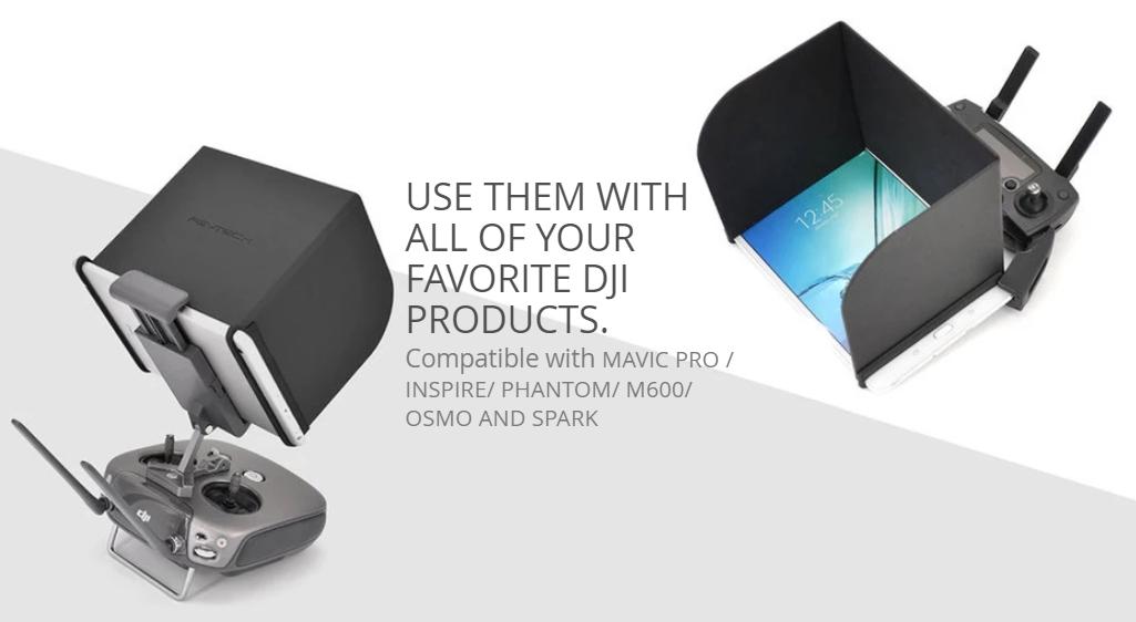 PGYTech monitor hood (zonnekap voor Android / Apple tablets en telefoons)