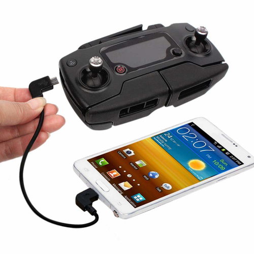 OTG controller kabel 30cm voor DJI  Spark / Mavic controller + iPhone / iPad, USB-C en Micro-USB
