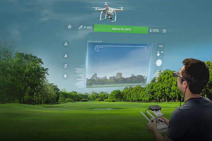 Epson Moverio BT-300 Smart Glasses - Drone Edition